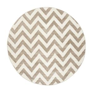 Safavieh Amherst 7 ft x 7 ft Wheat and Beige Chevron Indoor/Outdoor Rug