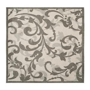 Safavieh Ivory and Tan Amherst Indoor/Outdoor Rug,AMT428K-7S