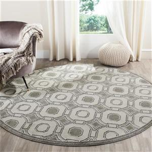 Safavieh Veranda 7-ft Square Ivory/Grey Geometric Indoor/Outdoor Rug
