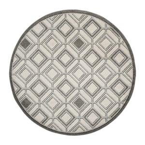 Safavieh Veranda Round Ivory/Grey Geometric Indoor/Outdoor Rug