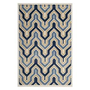 Safavieh Veranda 7-ft x 10-ft Blue Geometric Indoor/Outdoor Rug