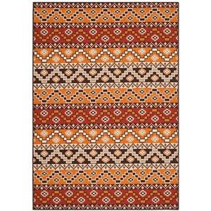 Safavieh Veranda 7-ft x 10-ft Red/Chocolate Geometric  Indoor/Outdoor Rug