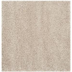 California Shag Power Loomed Beige Area Rug
