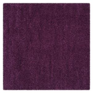 California Shag Power Loomed Purple Area Rug