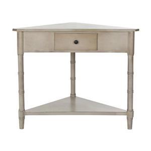 Safavieh Gomez 1-Drawer Vintage Grey Wood Corner Console Table
