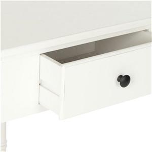 Safavieh Gomez 1-Drawer Distressed Cream Wood Corner Console Table