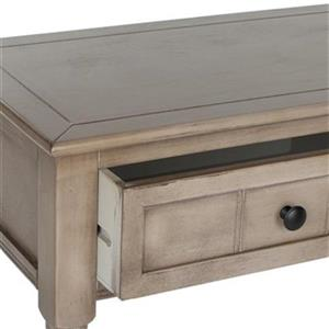 Safavieh Samantha 2-Drawer Vintage Grey Wood Console Table