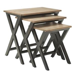 Safavieh Jack 22.8-in Natural Wood Tray Tables