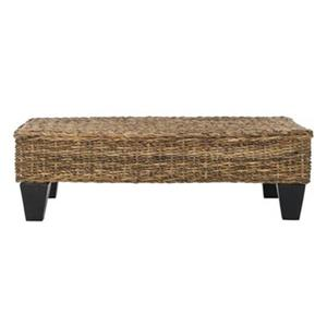 Safavieh Leary 39.37-in Natural Wicker Bench