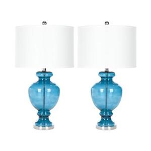 Safavieh 28-in Turquoise Table Lamps (Set of 2)