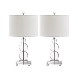 Safavieh 23-in Clear Moira Table Lamps (Set of 2)