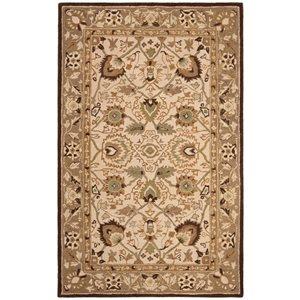 Anatolia Area Rug, Ivory / Brown