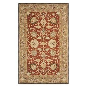 Anatolia Area Rug, Rust / Green