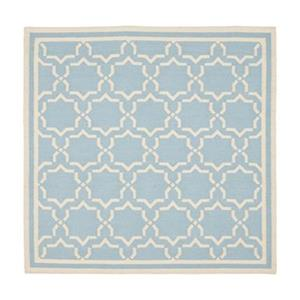 Dhurries Light Blue and Ivory Area Rug