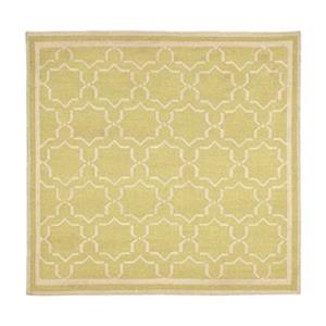 Dhurries Light Green and Ivory Area Rug