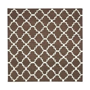 Dhurries Brown and Ivory Area Rug