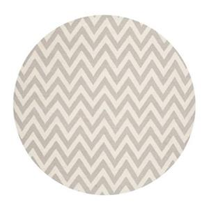 Dhurries Grey and Ivory Area Rug