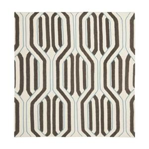 Dhurries Ivory and Multi-Colored Area Rug