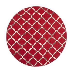 Dhurries Red and Ivory Area Rug