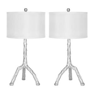 Safavieh 27.50-in Silver Branch Table Lamps (Set of 2)