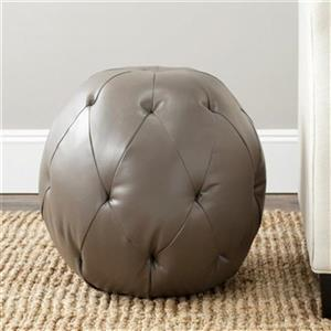 Safavieh Santiago 18.10-in x 18.30-in Clay Faux Leather Ottoman