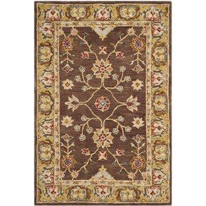 Anatolia Area Rug, Brown / Gold
