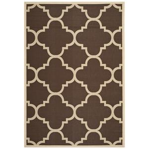Courtyard Dark Brown Area Rug