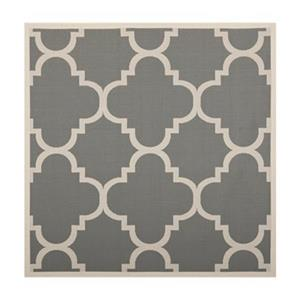 Courtyard Area Rug, Grey / Beige