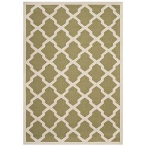 Courtyard Green and Beige Area Rug