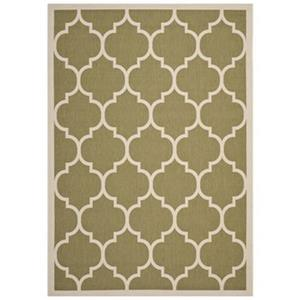 Courtyard Area Rug, Green / Beige