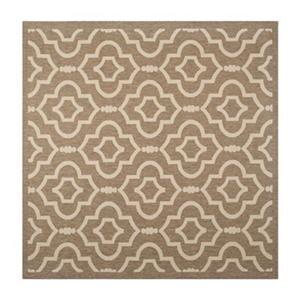 Courtyard Brown and Bone Area Rug