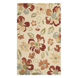 Four Seasons Area Rug, Beige / Red