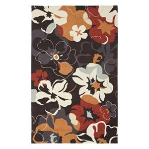 Four Seasons Area Rug, Black / Orange
