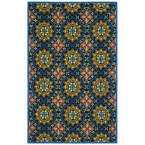Safavieh Four Seasons Black/Blue 96-in x 60-in Indoor/Outdoor Area Rug