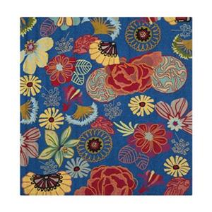 Safavieh Four Seasons 6-ft x 6-ft Blue and Red Area Rug