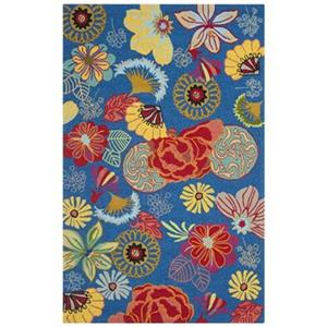 Four Seasons Blue and Red Area Rug