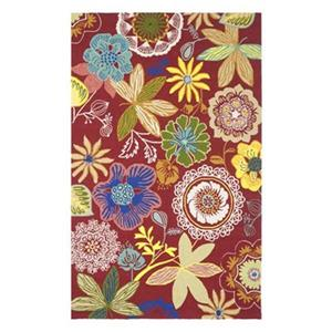 Safavieh Four Seasons 8-ft x 5-ft Red and Multi Area Rug