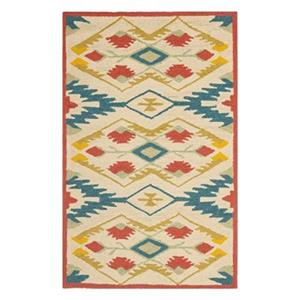 Safavieh Four Seasons 8-ft x 5-ft Natural and Blue Area Rug