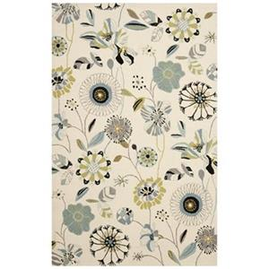 Safavieh Four Seasons 8-ft x 5-ft Ivory and Blue Area Rug
