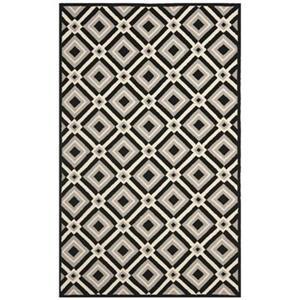 Safavieh Four Seasons 8-ft x 5-ft Black and Grey Area Rug
