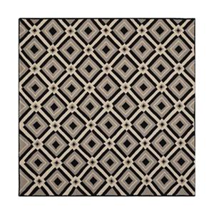 Four Seasons Black and Grey Area Rug