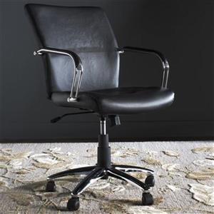 Safavieh Fox 22.2-in Black Lysette Desk Chair