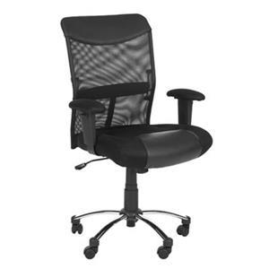 Safavieh 41.9-in Black Bernard Desk Chair