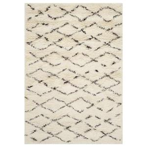 Casablanca White and Brown Area Rug