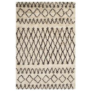 Casablanca White and Black Area Rug