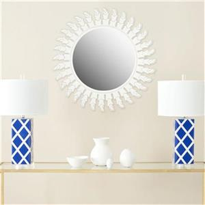 Safavieh Inca Sun 32-in x 32-in White Mirror