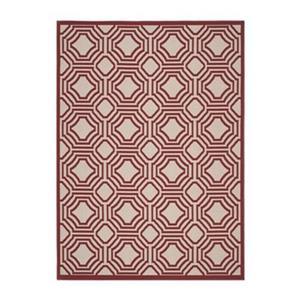 Safavieh Veranda Deco Trellis Red/Creme Outdoor Rug