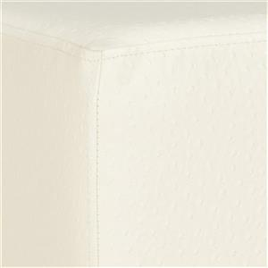 Safavieh Fox 19.00-in x 18.00-in Creme Faus Leather Matthias Ottoman