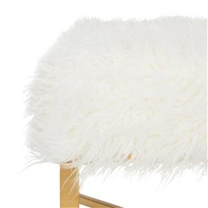 Safavieh Horace 18.00-in x 20.00-in White Faux Sheepskin