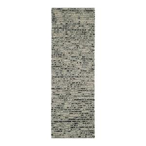 Bohemian Hand-Knotted Grey Multicolor Area Rug
